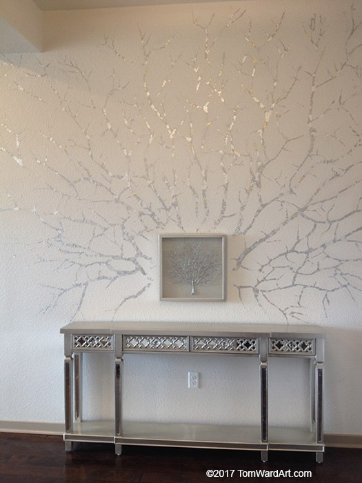 silver and gold decorative painting design faux finish denver