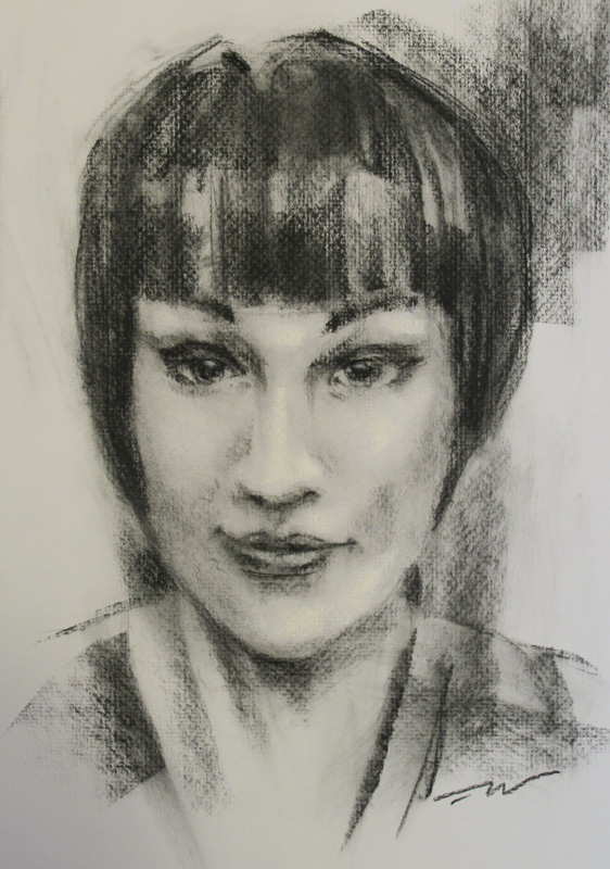 fine art charcoal portrait