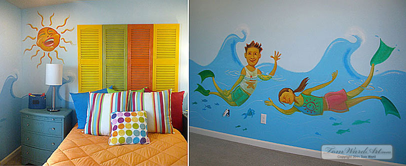 Charming Kids Room Murals